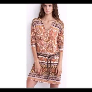 Velvet Spencer & Graham paisley tunic dress M
